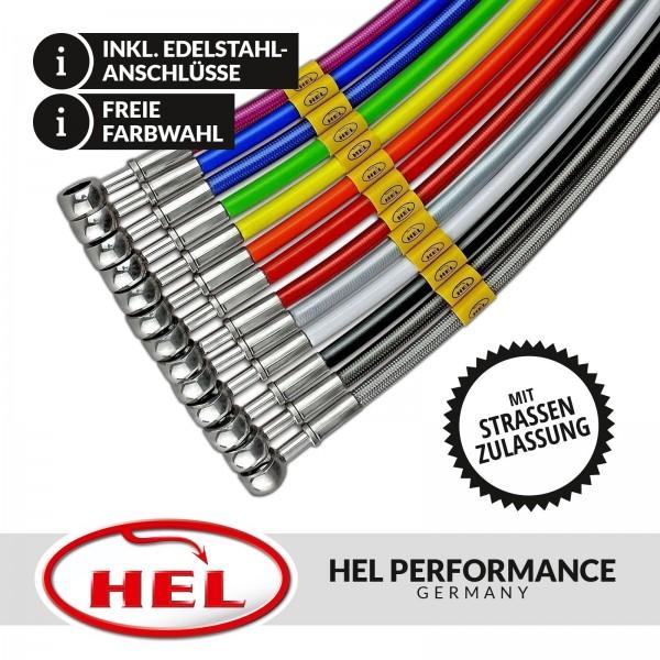 HEL Stahlflex Bremsleitungen (4-teilig) Nissan S13 mit S14-Bremse, mit Teilegutachten