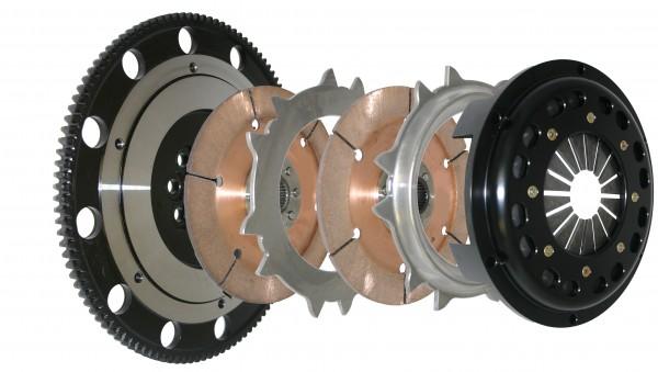 Competition Clutch Dreischeiben Kupplungskit 184mm ungefederte Discs 10kg für Honda Civic B Serie H